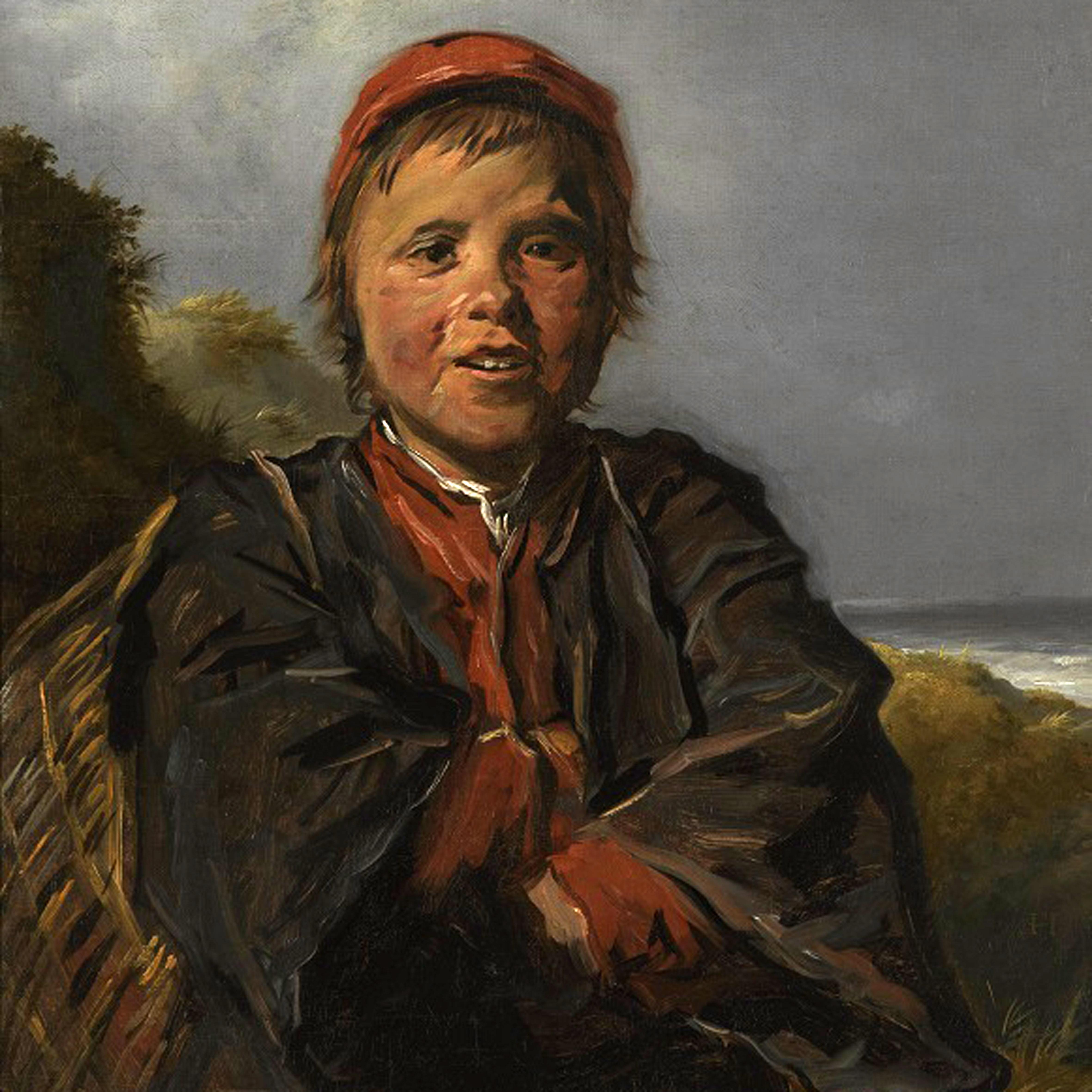 Обои парус, картина, Конинк Филипс, Пейзаж Широкой Реки, лодка. Разное foto 12