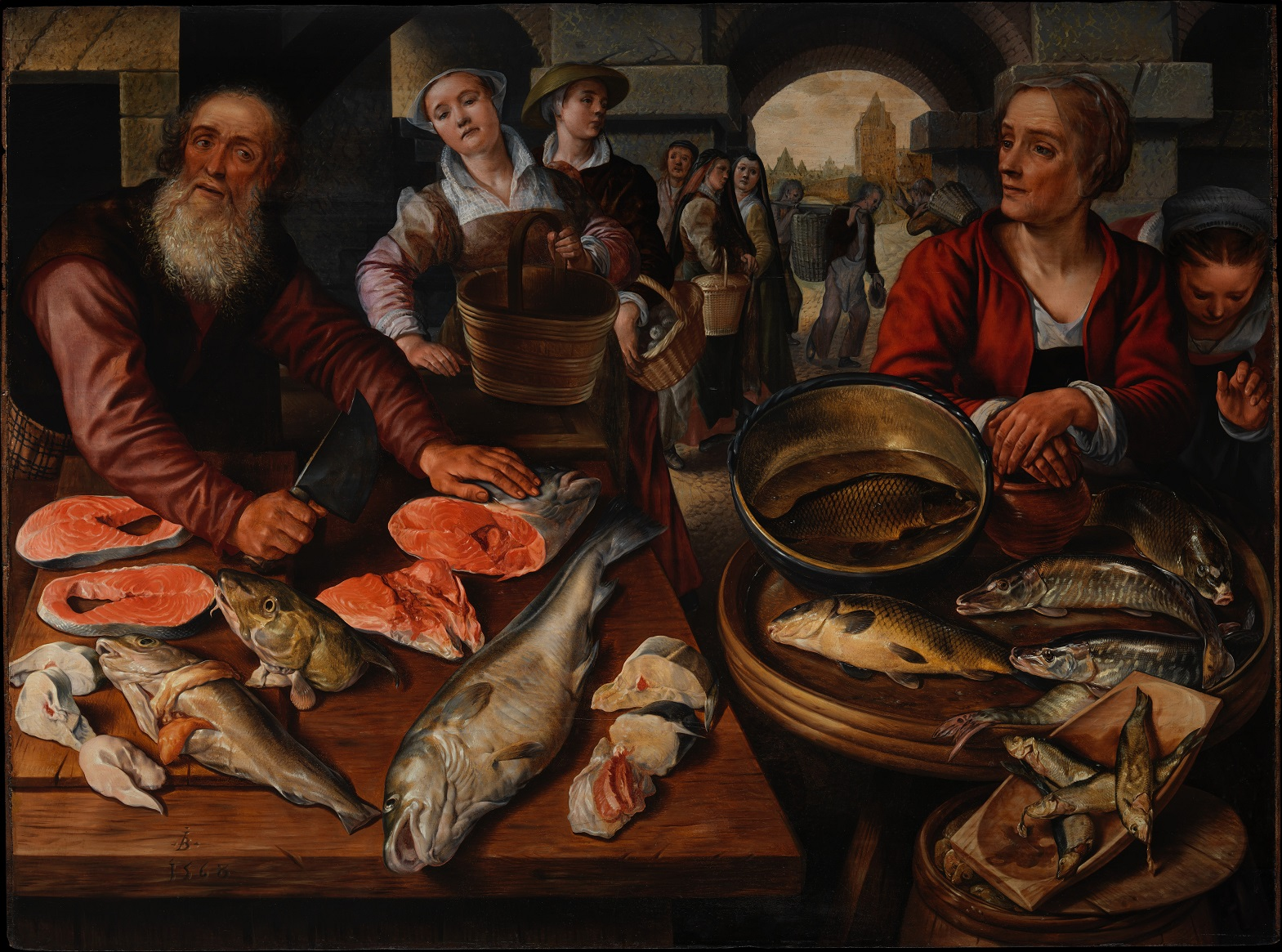 Обои повозка, Ян Брейгель старший, Пейзаж с Путниками, всадник, картина. Разное foto 14